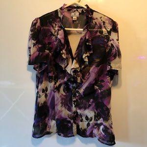 Worthington floral print blouse